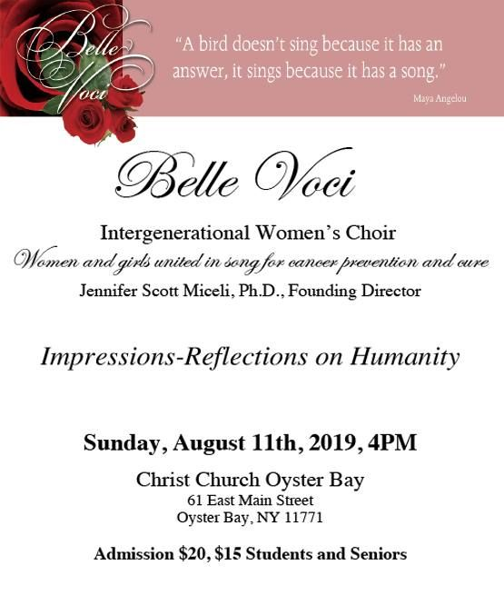 Belle Voci Women's Choir concert for Cancer prevention and cure