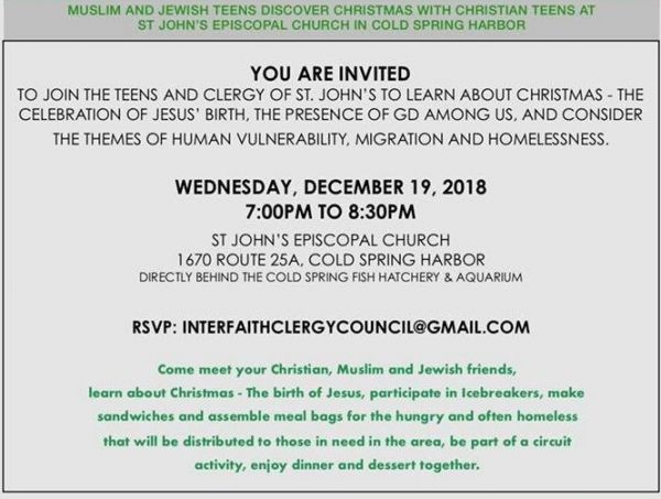 Interfaith Teen Gathering: Sharing the Story of Christmas