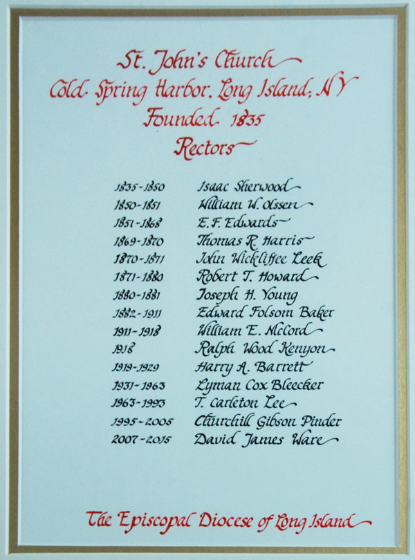 List of Rectors